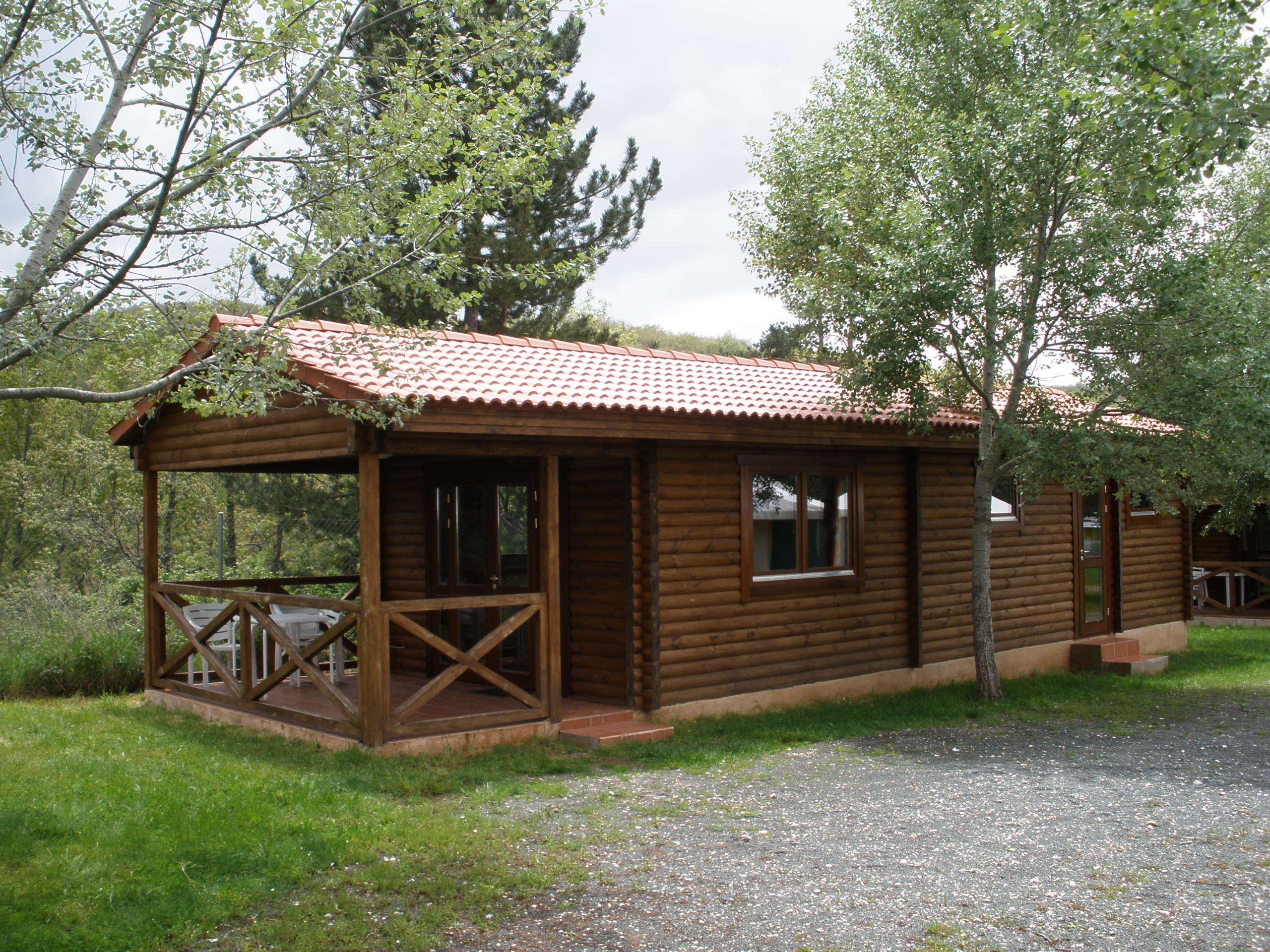 bungalow de madera camping