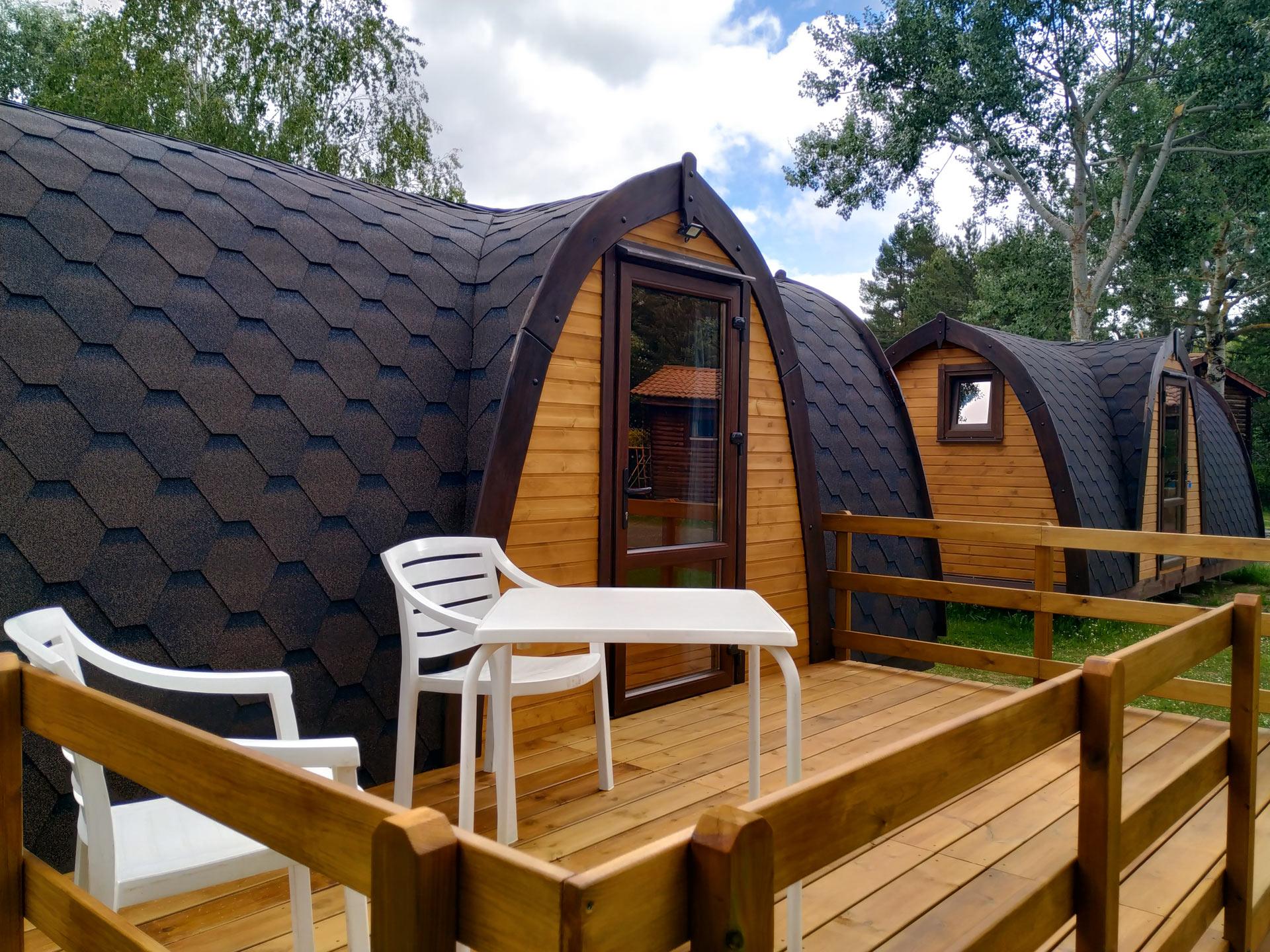 pods madera camping 2 personas