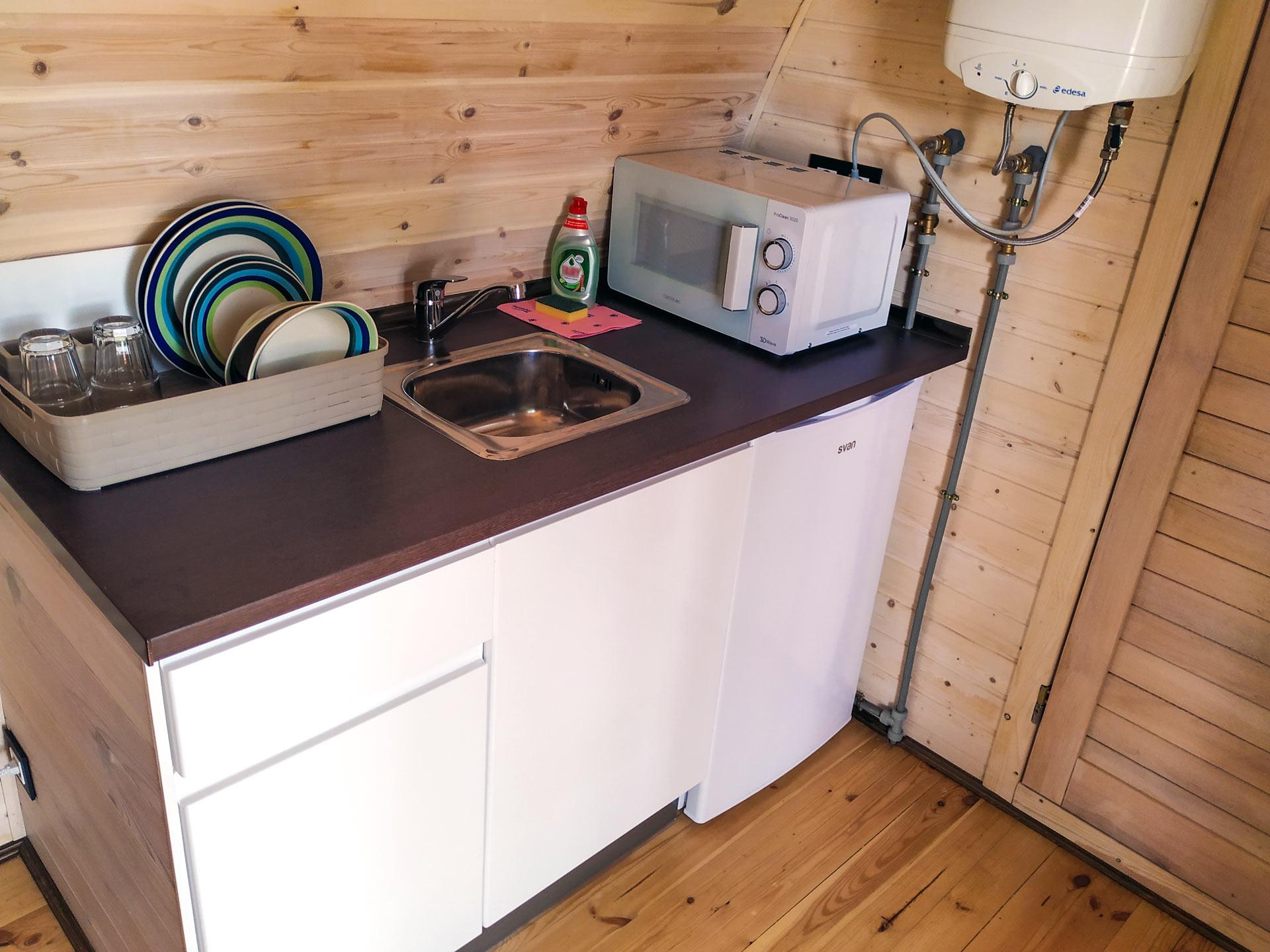bungalow POD interior cocina