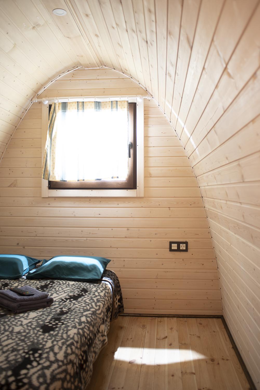 habitación pod de madera camping