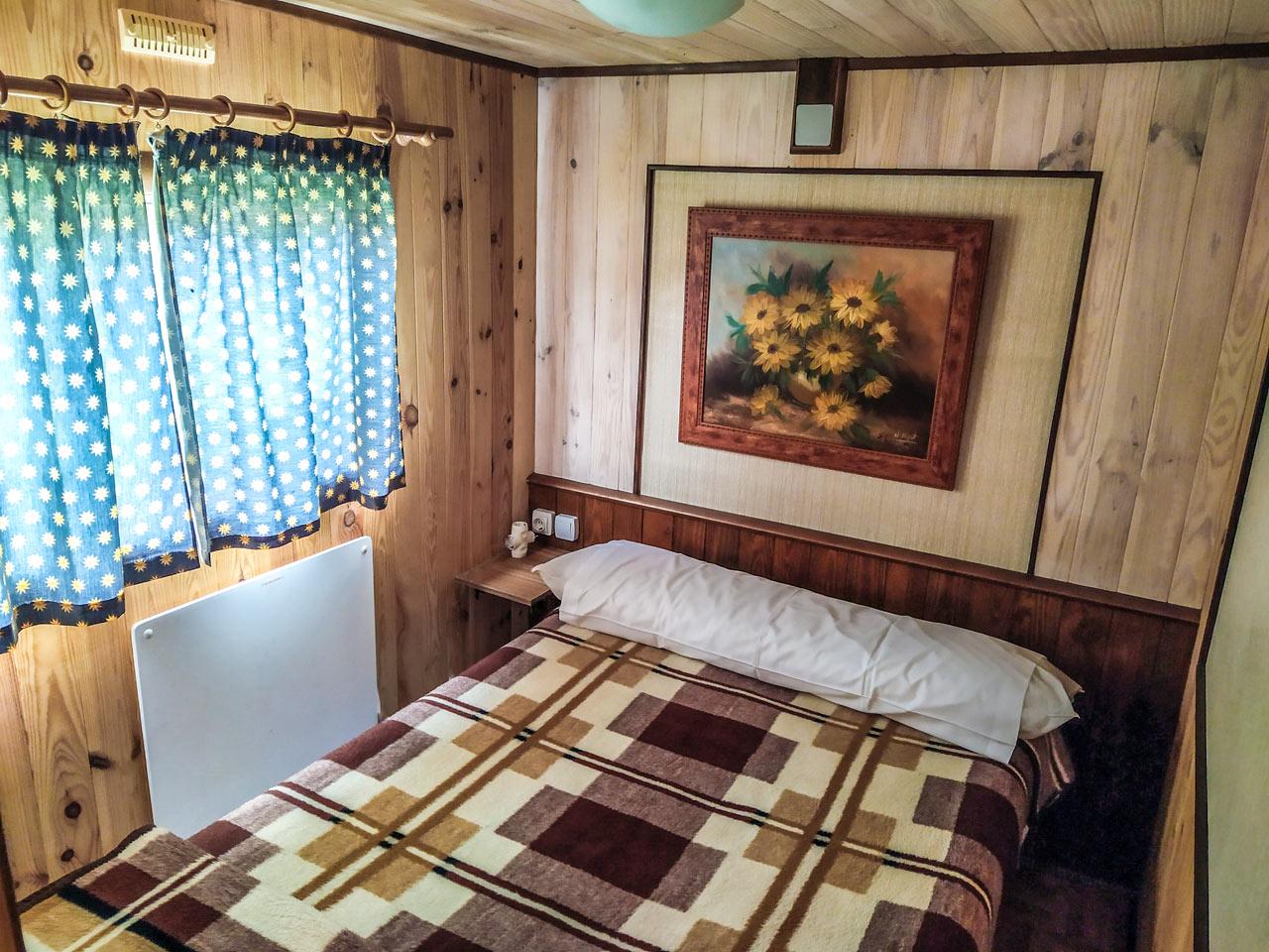 mobile home - habitación cama de matrimonio